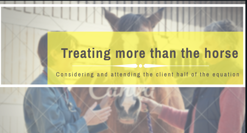 Treating more than the horse